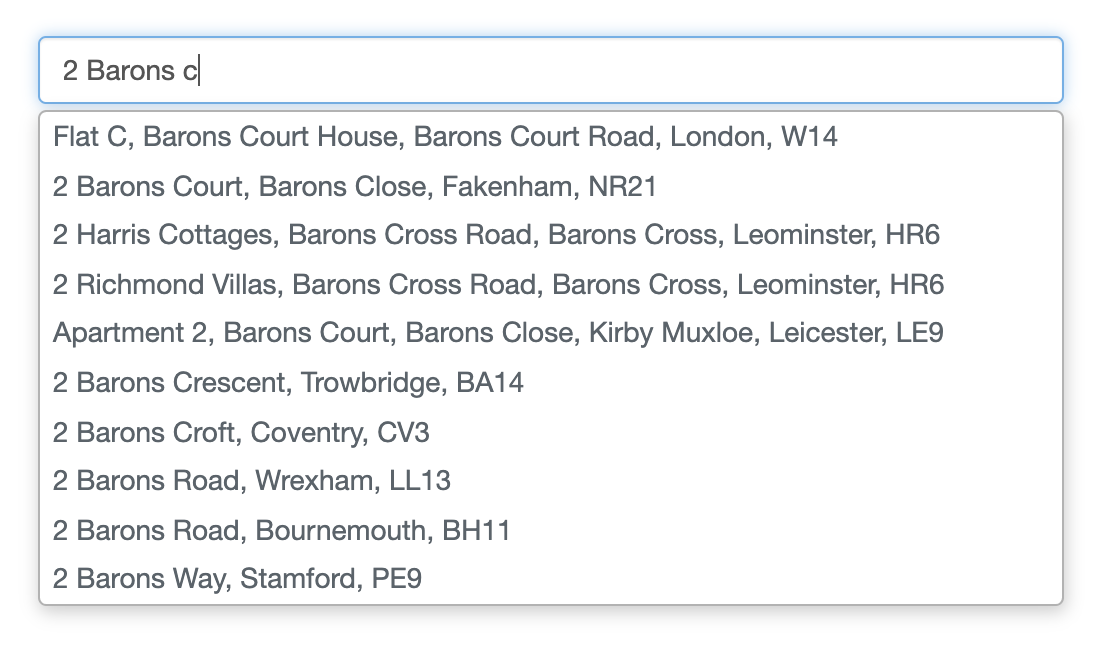 Address Finder-screenshot