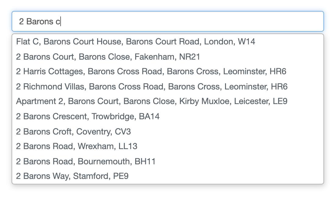 Address Autocomplete