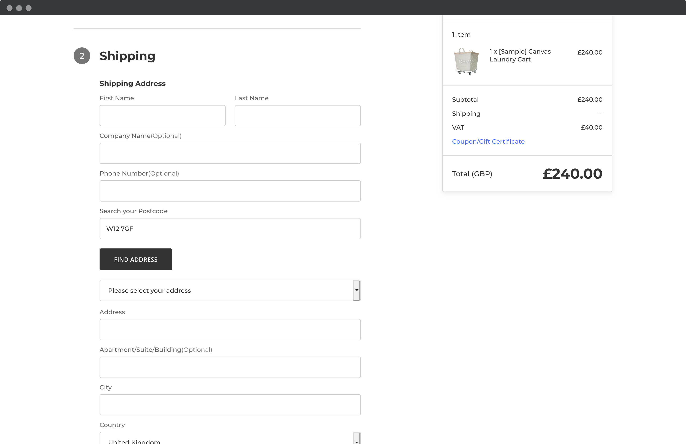 Enable Postcode Lookup on your address collection forms-screenshot