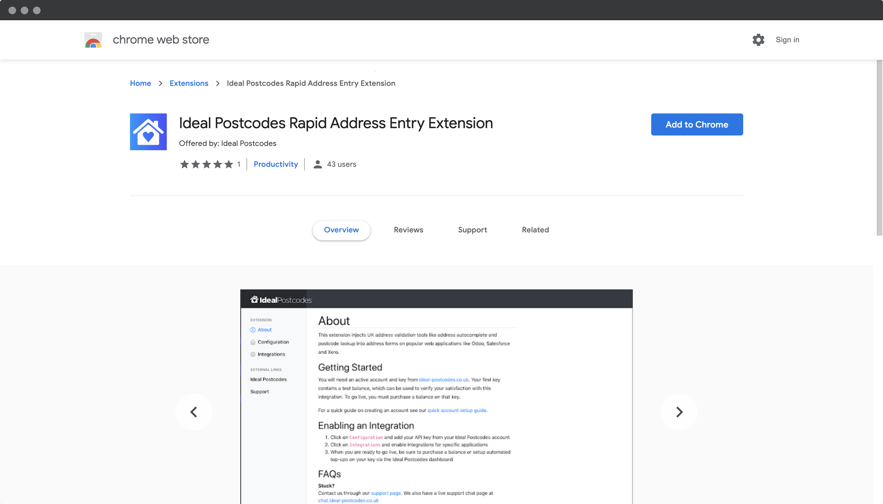 Ideal Postcodes Extension on Chrome Web Store-screenshot