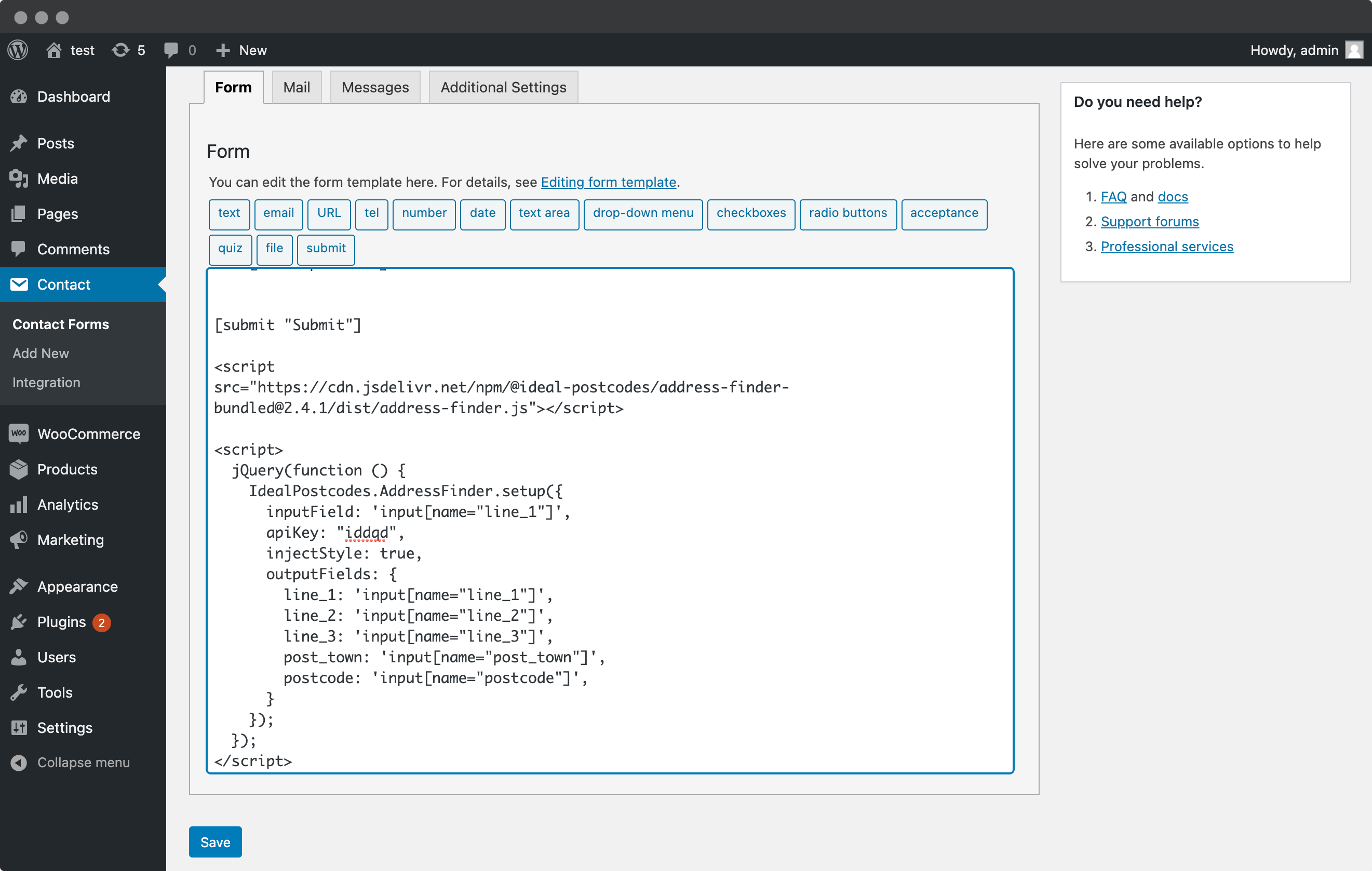 Add the Address Finder Plugin-screenshot