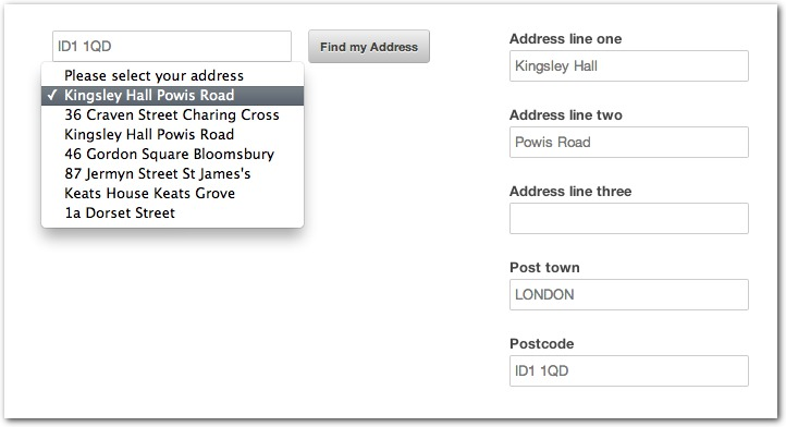 find address by phone number in uk