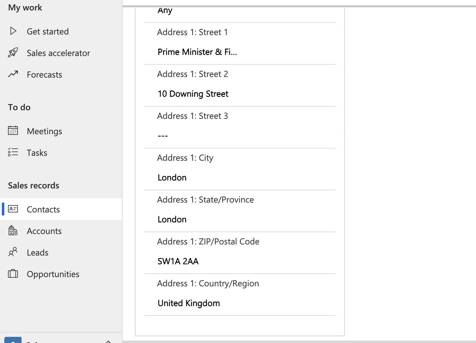 Address Autocompletion on the Dynamics 365-screenshot