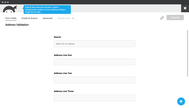 Create address fields-screenshot
