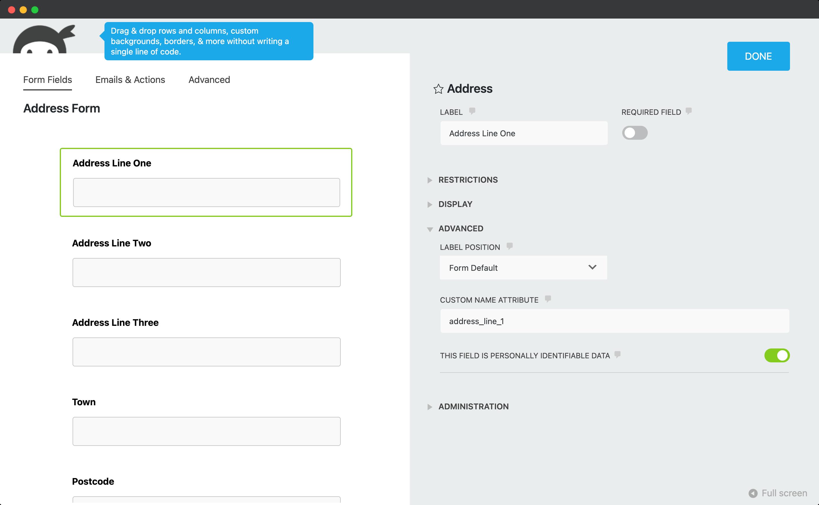 Add a custom name attribute-screenshot