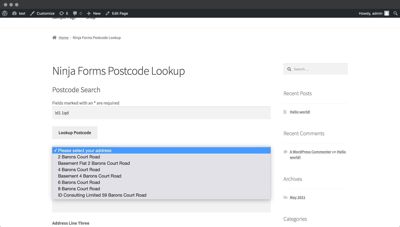Quickly populate your address fields-screenshot