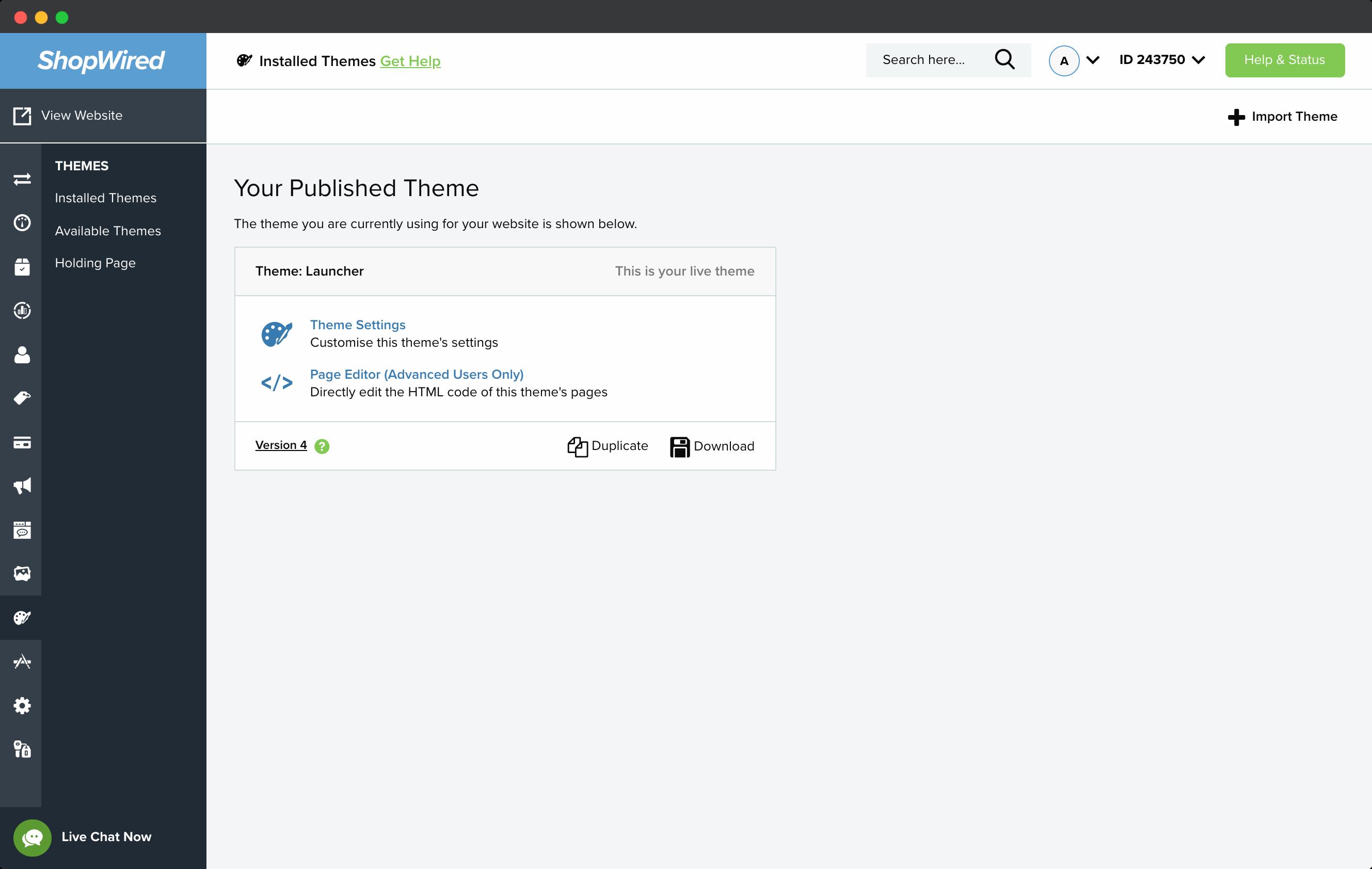 Go to theme template-screenshot