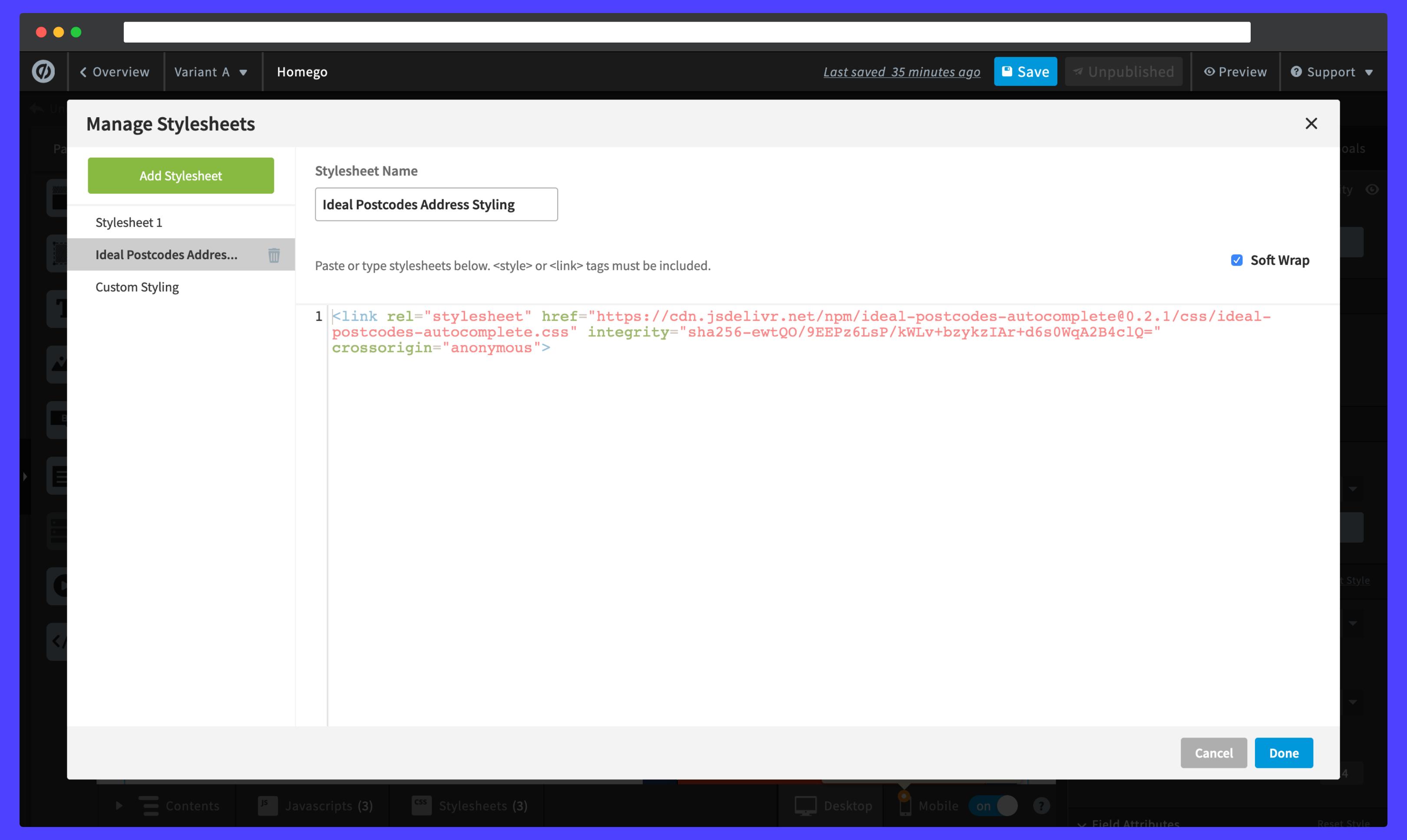 Adding Autocomplete styles-screenshot